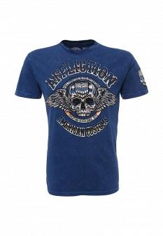 Мужская синяя футболка Affliction