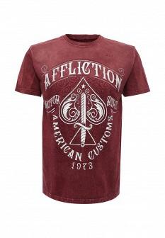 Мужская бордовая футболка Affliction