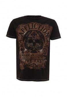 Мужская коричневая футболка Affliction