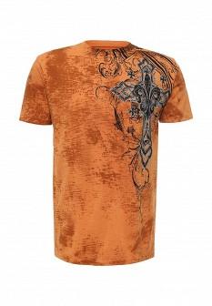 Мужская оранжевая футболка Affliction