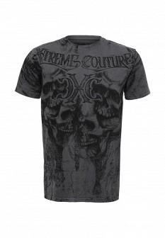 Мужская серая футболка Affliction