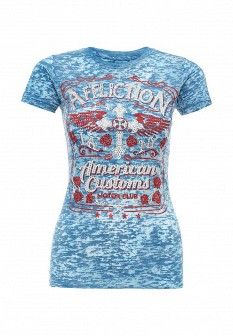 Женская голубая футболка Affliction