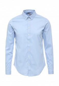 Мужская голубая осенняя рубашка