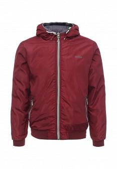 Мужская бордовая серая утепленная осенняя куртка
