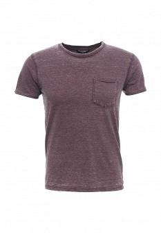 Мужская фиолетовая осенняя футболка