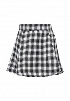 Белая черная осенняя юбка