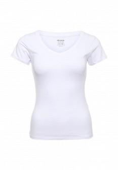 Женская белая осенняя домашняя футболка