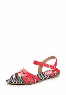 Женские красные кожаные сандалии
