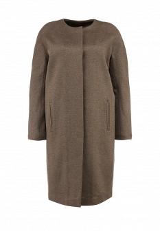 Женское коричневое осеннее пальто