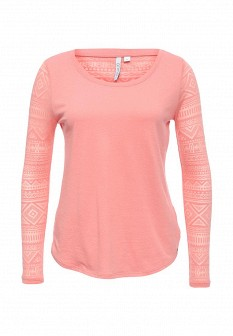 Женский розовый осенний лонгслив