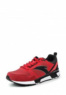 Мужские красные осенние кожаные кроссовки