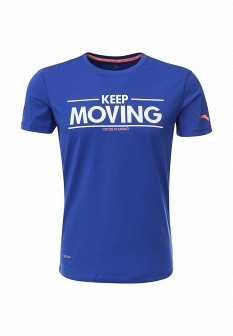 Мужская синяя осенняя футболка
