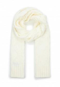 Мужской белый осенний шарф