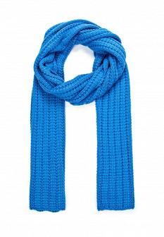 Мужской голубой синий осенний шарф