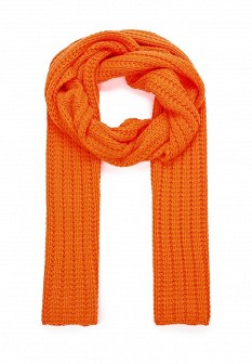 Мужской оранжевый осенний шарф