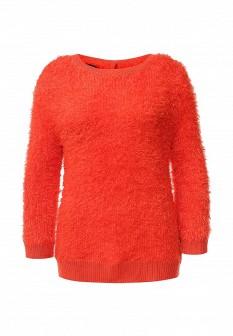 Женский оранжевый осенний джемпер