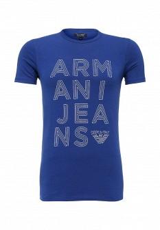 Мужская синяя итальянская футболка