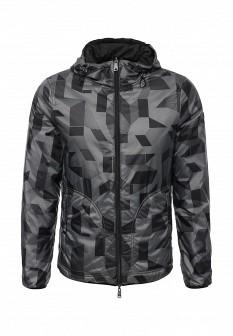 Мужская серая черная утепленная осенняя куртка