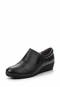 Женские черные осенние кожаные ботинки на каблуке