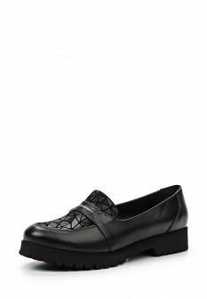 Женские черные осенние кожаные туфли лоферы