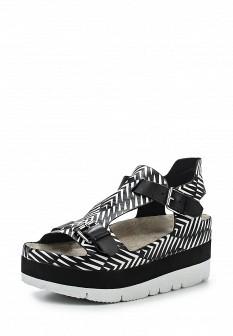 Женские белые черные кожаные сандалии