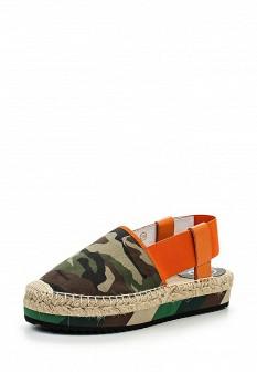 Женские испанские кожаные сандалии на каблуке