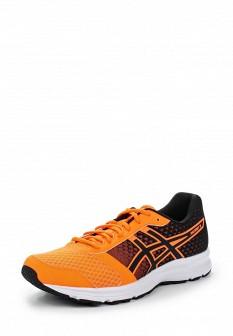 Мужские оранжевые осенние кожаные кроссовки