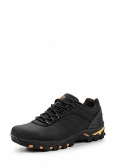 Мужские черные осенние кожаные трекинговые ботинки