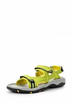 Женские желтые сандалии из нубука