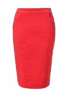 Красная осенняя юбка Baon