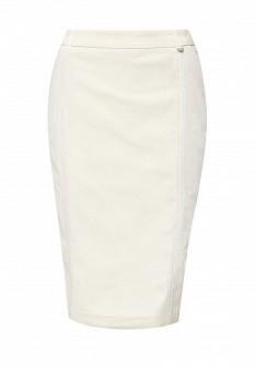 Бежевая осенняя юбка Baon