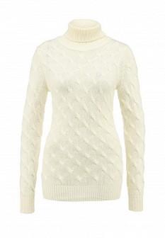 Женский осенний молочный свитер