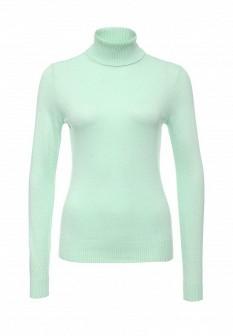 Женская зеленая осенняя водолазка