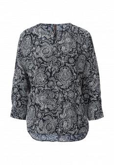 Белая черная осенняя блузка