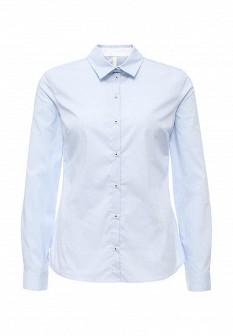 Женская голубая осенняя рубашка