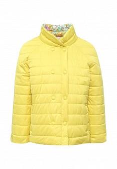 Женская желтая утепленная осенняя куртка