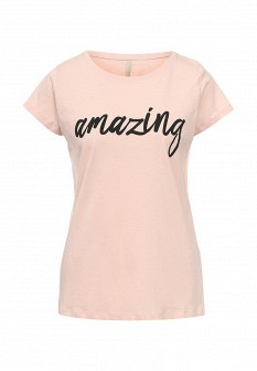 Женская розовая футболка Baon