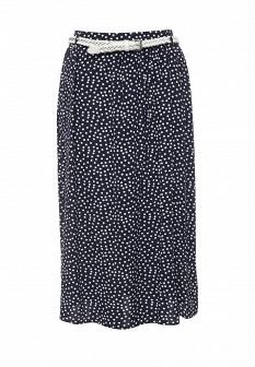 Синяя осенняя юбка Baon
