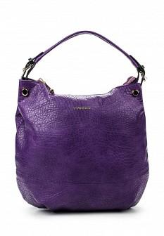 Женская фиолетовая кожаная сумка