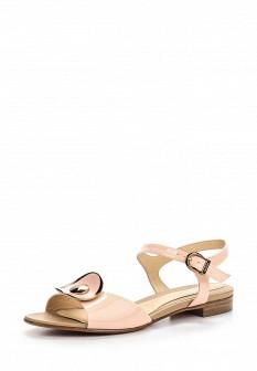 Женские розовые итальянские кожаные сандалии