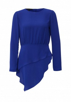 Синяя блузка BCBGMAXAZRIA