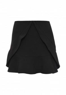 Черная осенняя юбка BCBGMAXAZRIA