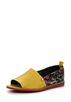 Женские кожаные разноцветные текстильные балетки