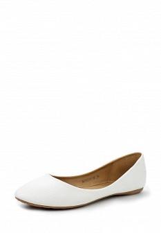 Женские белые кожаные балетки