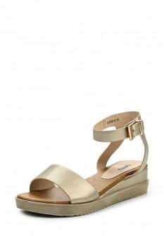 Женские кожаные сандалии на каблуке