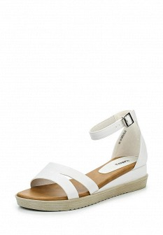 Женские белые кожаные сандалии на каблуке с высоким голенищем