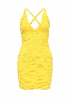 Желтое осеннее платье