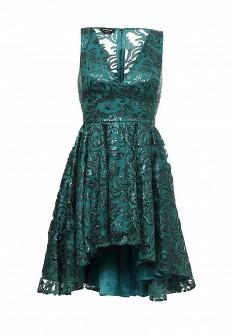 Зеленое осеннее платье Bebe
