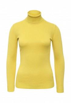 Женская желтая осенняя водолазка