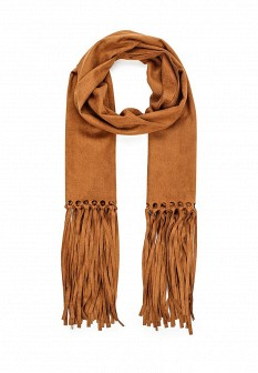 Женский коричневый шарф